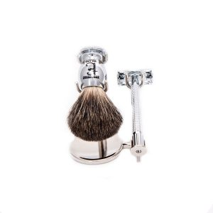 "Evolution Island ""Silver Knight"" Safety Razor Set"