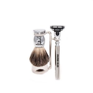 "Evolution Island ""Dorian Gray"" Mach 3 Shaving Set"