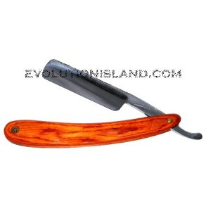 Carbon Steel Straight Razor with Pakkawood orange handle
