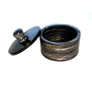 black wood shaving bowl