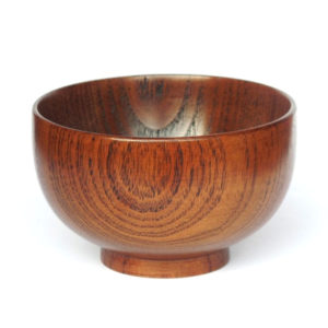 dark brown shaving bowl