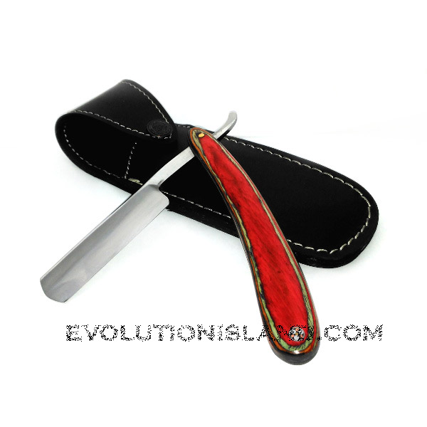 Carbon Steel Straight Razor with Pakkawood Handle