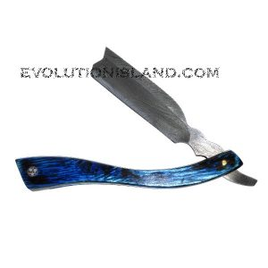 Damascus Steel Straight Razor with Pakkawood handle