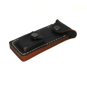 Dark Brown Leather Sheath for Safety Razors