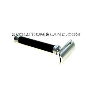 DE Safety Razor handmade with Black Buffalo Horn handle