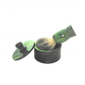 Green Shaving Bowl and Badger